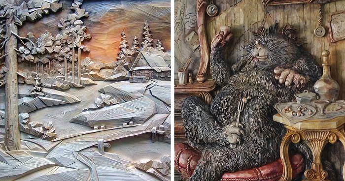 Jevgenyij Dubovik orosz fafaragó művész