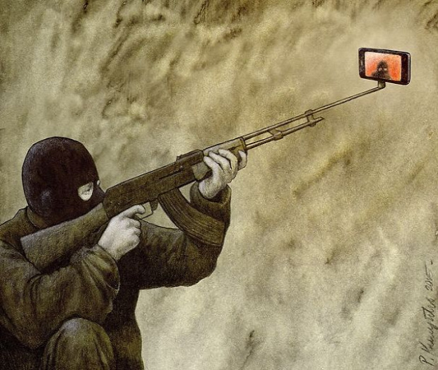 A világ érdekes  karikatúra világ társadalom helyzet