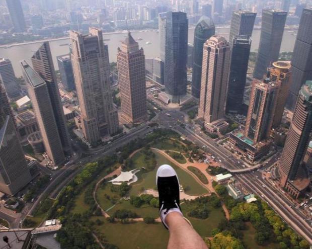 A világ érdekes Kína üvegkilátó ösvény toronyház üveg
