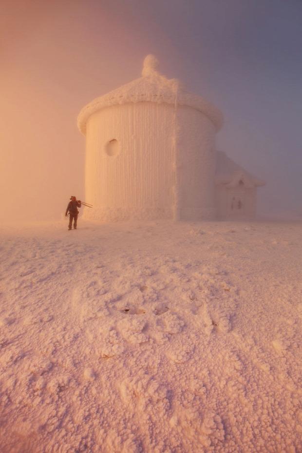 Lengyelország Szudéták Kárpátok tél