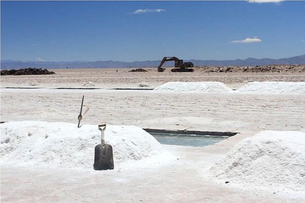 A világ érdekes Salinas Grandes só sivatag medence Argentina