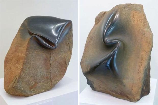 A világ érdekes szobor kő kvarc gránit gyűr csavar ráncol José Manuel Castro López