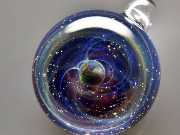 A világ érdekes üveg világűr bolygó üveggömb