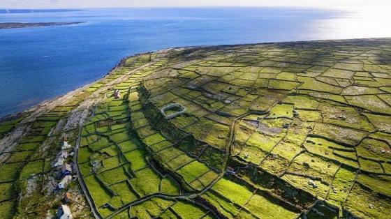 A világ érdekes Írország mészkő Szürke fal