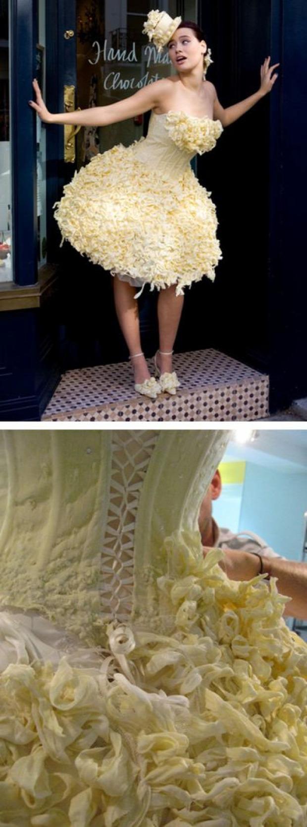 A világ érdekes esküvői ruha furcsa