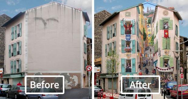 A világ érdekes tűzfal festmény graffiti