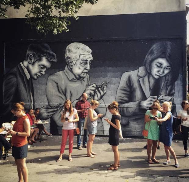 A világ érdekes graffiti utcai művészet