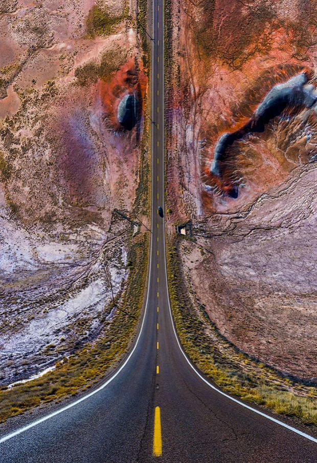 A világ érdekes fotó laposföld görbült tér