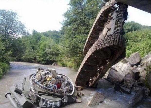 A világ érdekes tank baleset