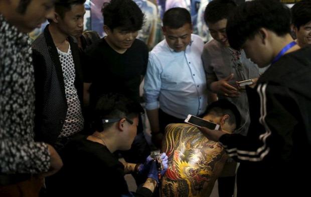 A világ érdekes tetkó tetoválás nemzetközi fesztivál Sanghaj