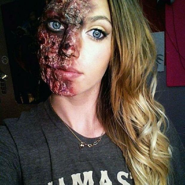 A világ érdekes sminkes horror zombi