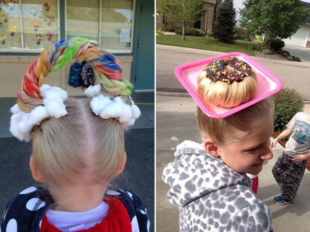 A világ érdekes iskola frizura őrült fantázia