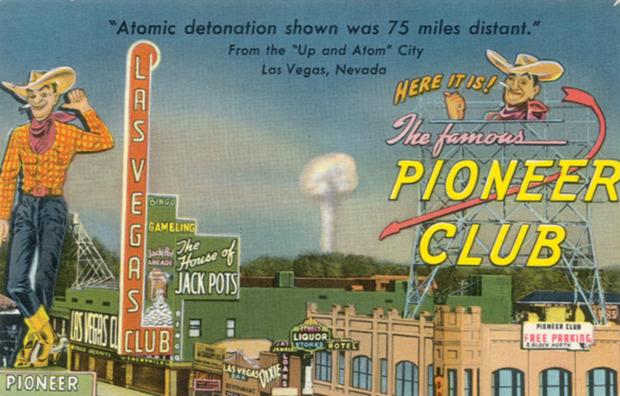atombomba propaganda USA Las Vegas Show robbantáskísérlet
