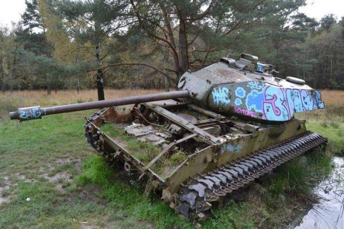 A világ érdekes Németország tank harckocsi elhagyott