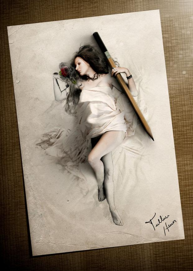 A világ érdekes rajz fotó művész Tullius Heuer