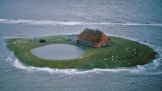 A világ érdekes Németország mocsár sziget Hallig