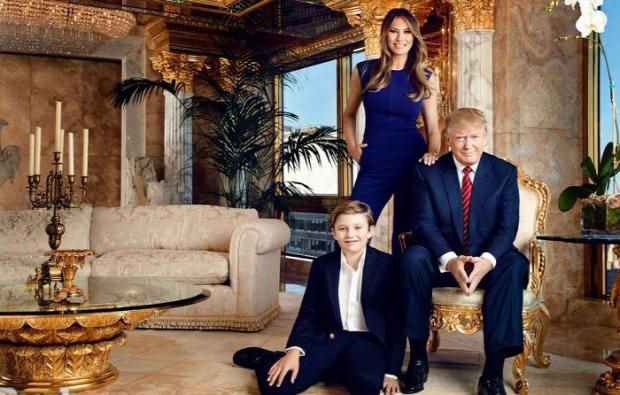 A világ érdekes gazdagság jó ízlés Donald Trump apartman penthouse lakás arany