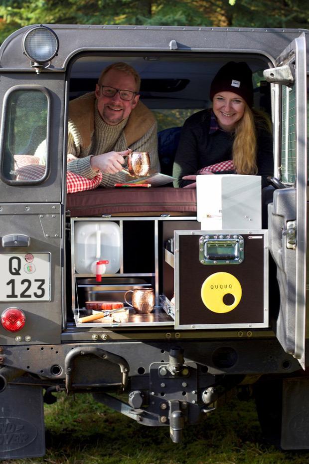 Kütyülógia kemping doboz Land Rover Defender