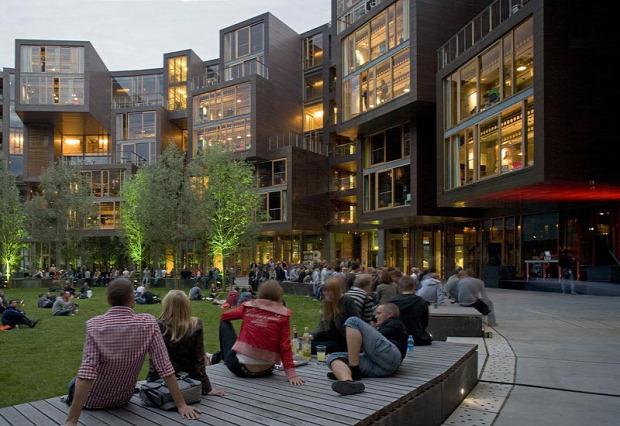 A világ érdekes Dánia Koppenhága kollégium