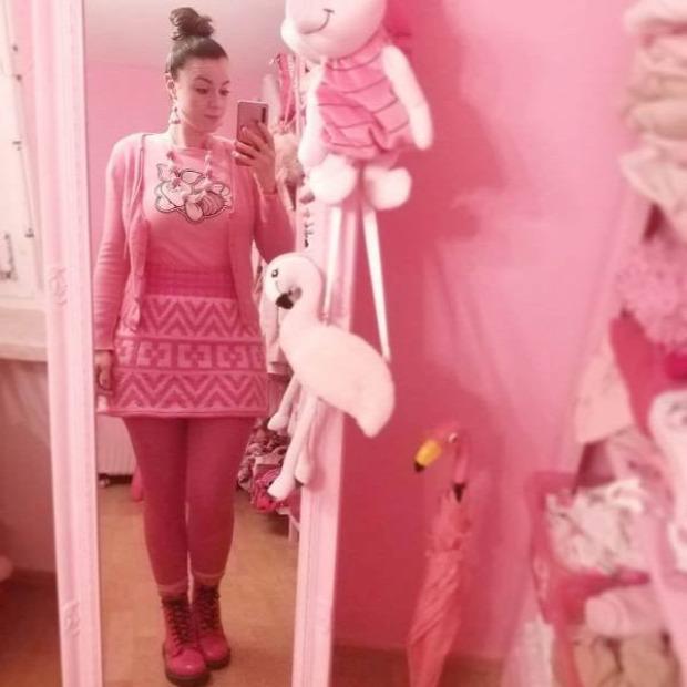 tanárnő Svájc rózsaszín