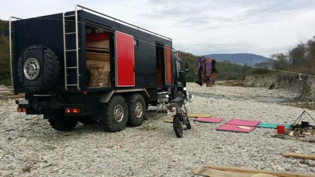 A voilág érdekes teherautó kamaz otthon átalakítás lakás