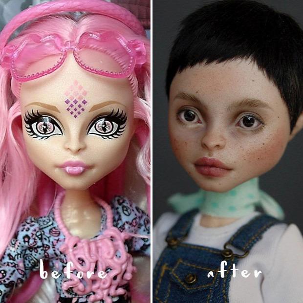 A világ érdekes baba arc festés