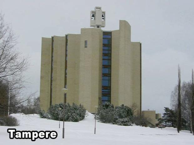 A világ érdekes Finnország templom szokatlan különös