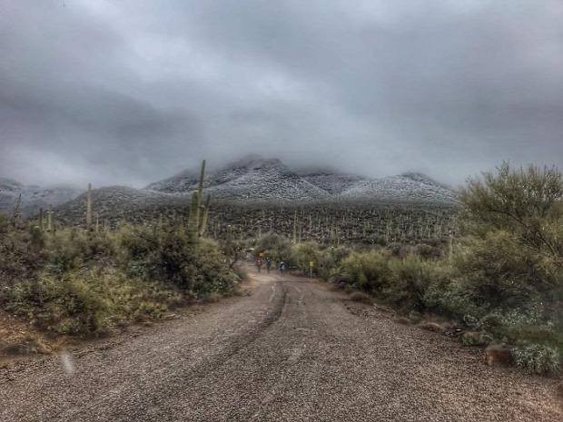 A világ érdekes Arizona Új-Mexikó sivatag hó