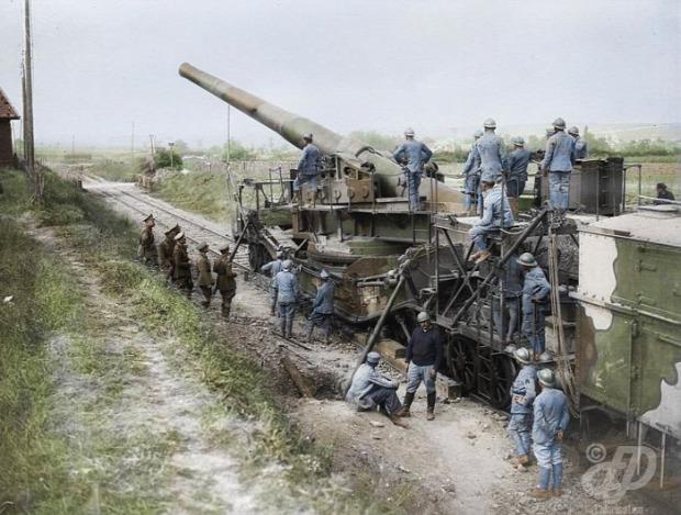 A világ érdekes első világháború fotó fénykép retusált színezett