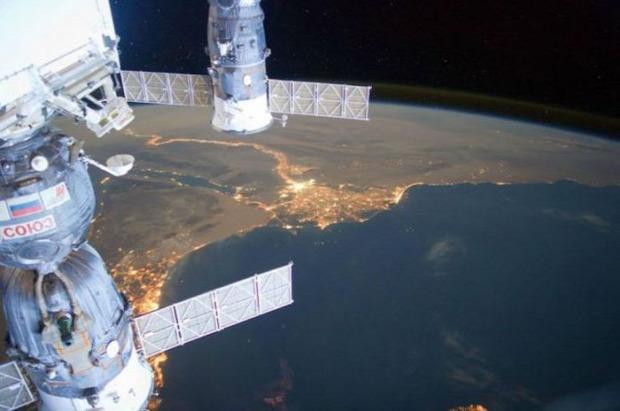 A világ érdekes Föld világűr 320km Nemzetközi Űrállomás