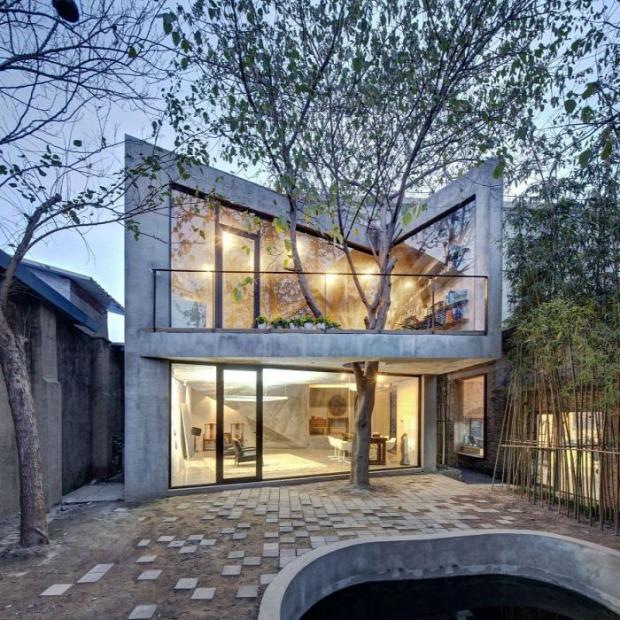 A világ  érdekes épület fa építész