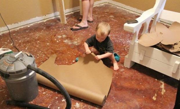 DIY padló olcsó papír