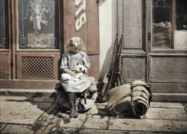 A világ érdekes világháború I. első színezett restaurált fotó