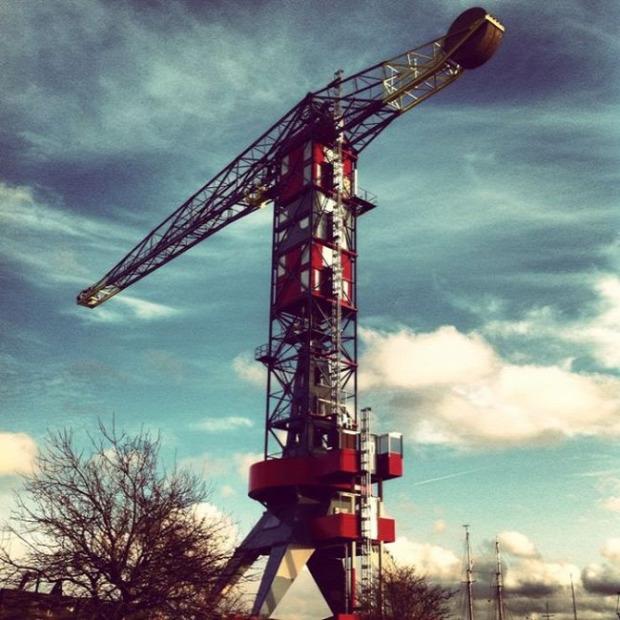 A világ érdekes daru szálloda Hollandia