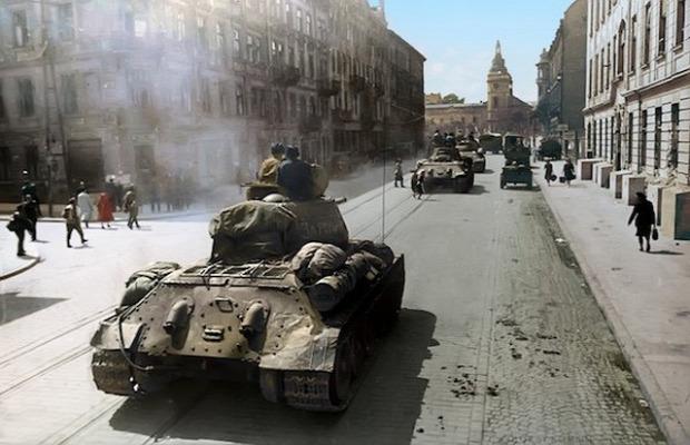 A világ érdekes második világháború rstaurált digitális színezett fotó
