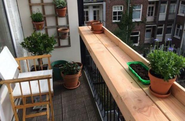 kis erkély dekoráció helykihasználás