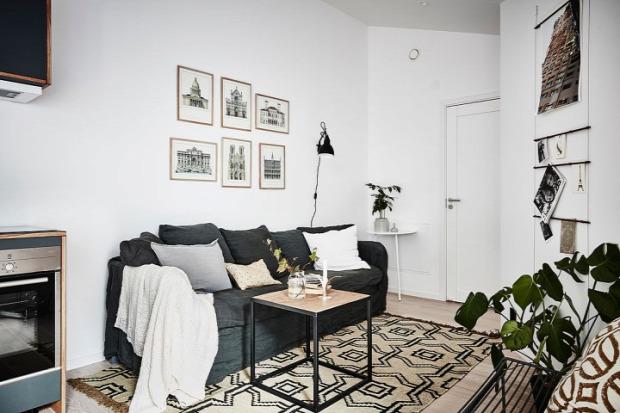 kis lakás skandináv stílus nagyvilág lakberendezés inspiráció penthouse terasz térkihasználás