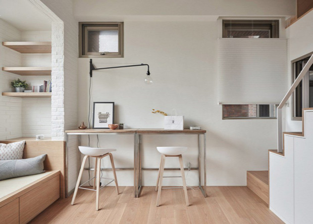 kis lakás garzon helykihasználás otthonos