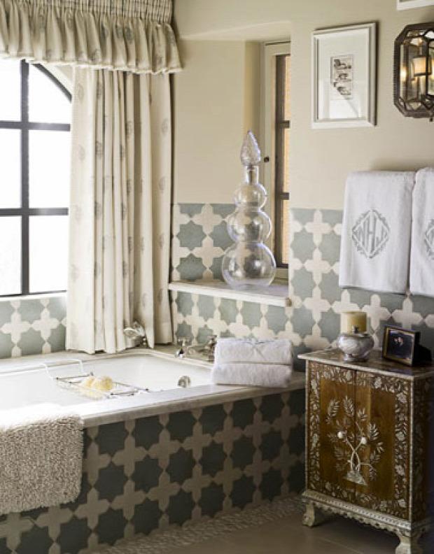 Színes fürdőszobák - otthonos
