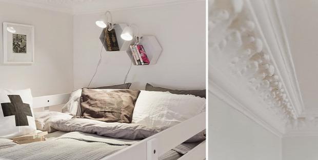 kis lakás kis terek skandináv stílus galériaágy
