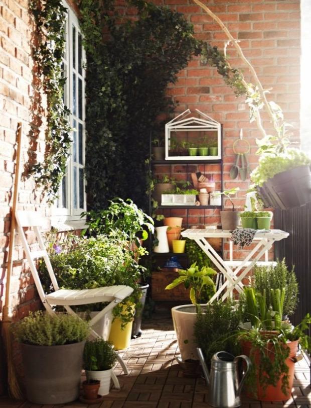 erkély kert