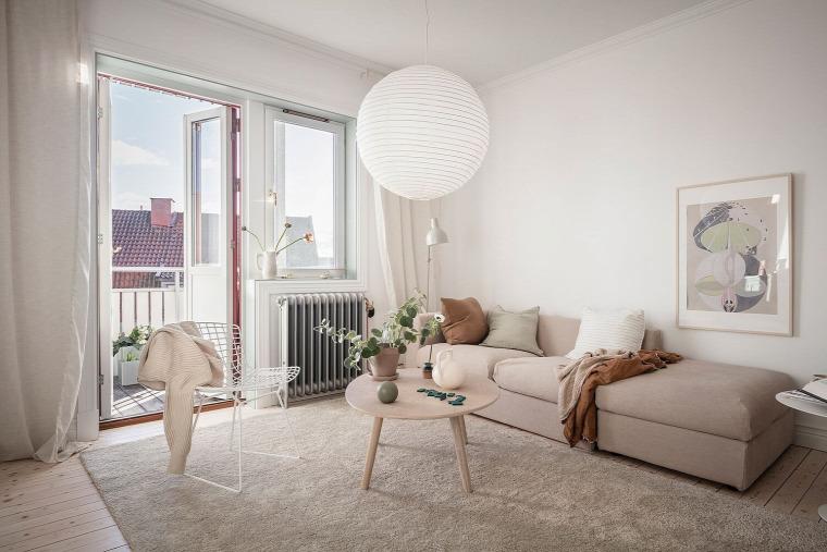 kis lakás pasztell skandináv stílus otthonos
