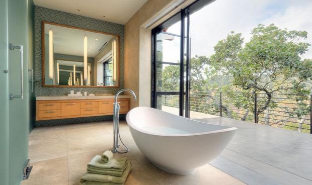 fürdőszoba különleges kilátás