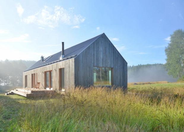 tóparti ház faszerkezet otthonos