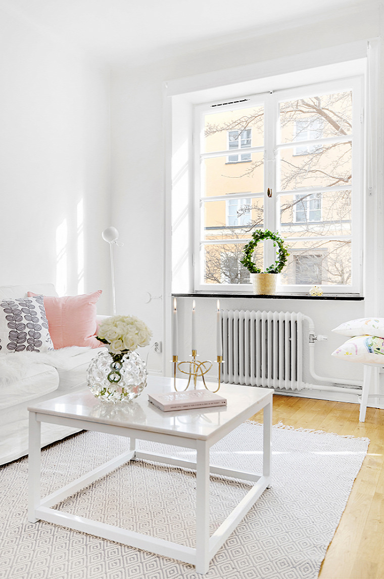 kis lakás skandináv stílus csajos dizájn téglafal