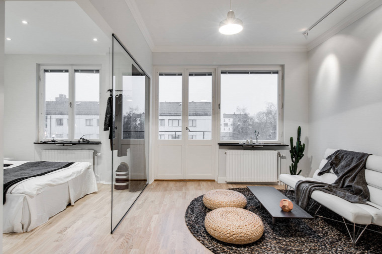 kis terek garzon praktikus helykihasználás skandináv stílus hűtő