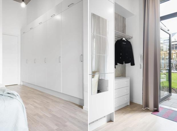 kis lakás világos egy légtér nyitott otthonos praktikus elrendezés