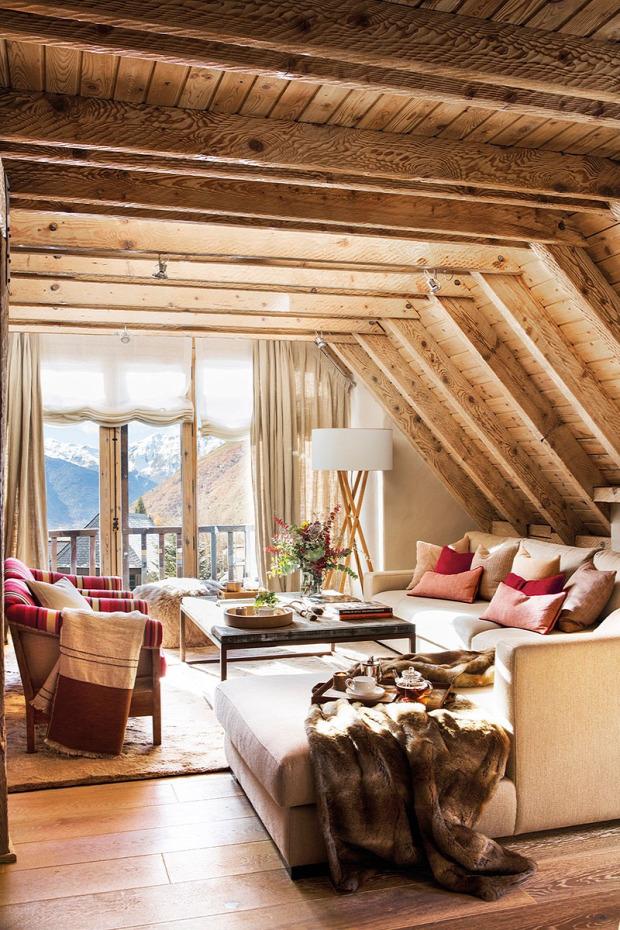 faház fa burkolat nyaraló otthonos