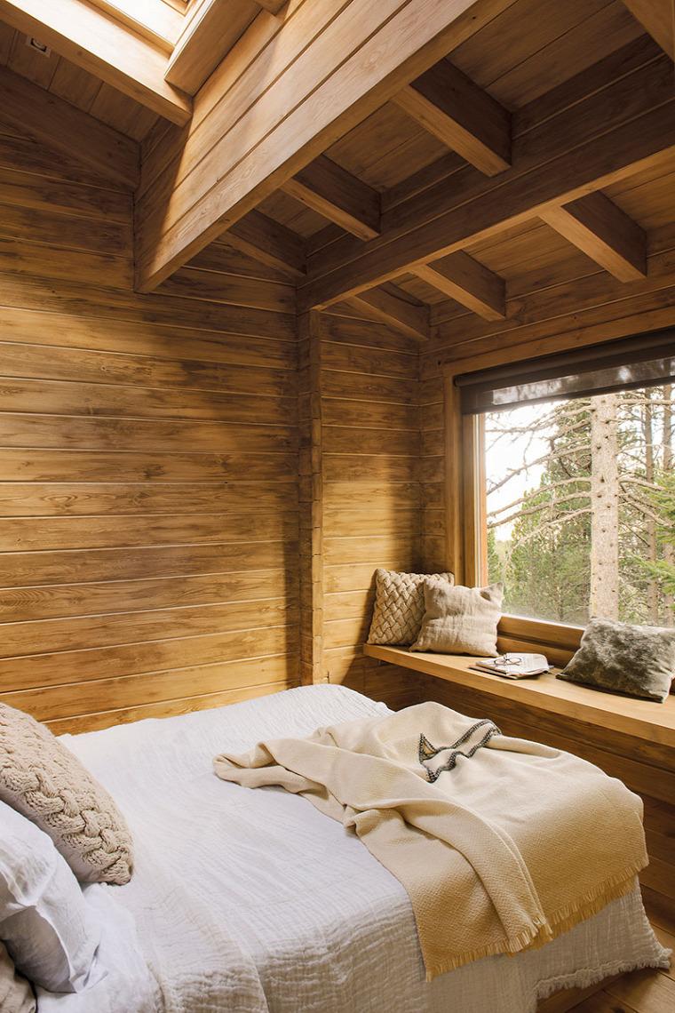 mediterrán skandináv stílus faház fa burkolat