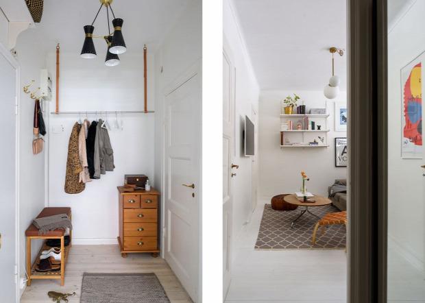 kis lakás garzon praktikus elrendezés egyedi vidám